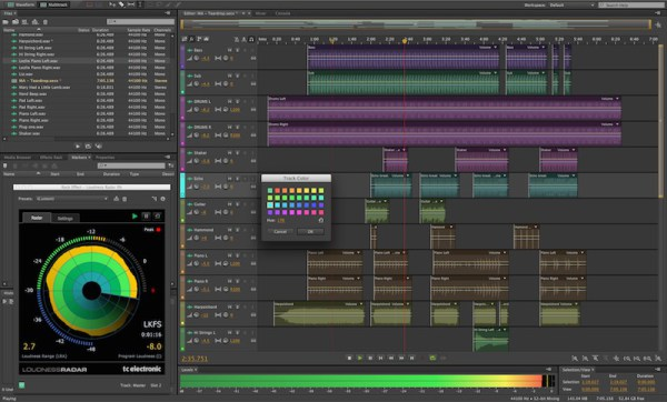 Screenshot of Adobe Audition CC